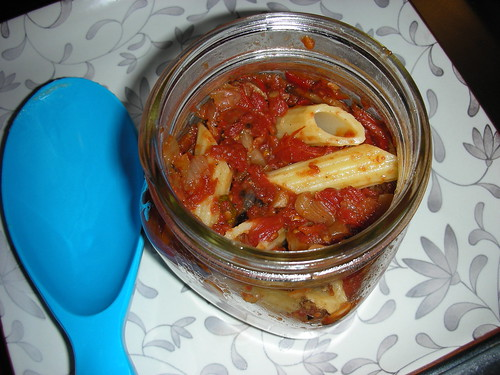 Roasted tomato sauce rigatoni