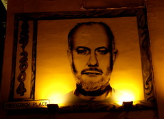 DJ John Peel (Annie in Beziers) Tags: uk england streetart wall pub brighton dj rip icon tribute johnpeel topbloke frederickplace anationaltreasure alegend annieinbéziers theprincealbertpub