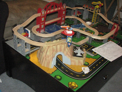 Jack's train set and table