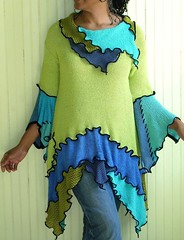 Lime,teal,cobalt tunic (brendaabdullah) Tags: fashion diy recycled sweaters oneofakind womens deconstruction salvaged pieced upcycled tunics indiefashion restyled ecoconscious brendaabdullah