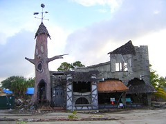 The remains of the Haunted Castle at Miracle Strip Amusement Park, Panama City Beach, Florida (stevesobczuk) Tags: abandoned ruins riviera florida demolition vacant redneck panamacitybeach miraclestripamusementpark