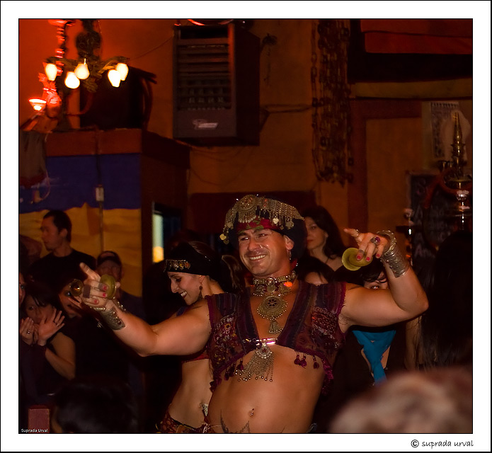 Belly Dancing in a crowded restaurant