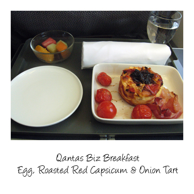 qantas business lunch© by Haalo