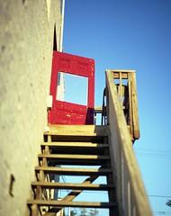 red door (didnotspillcoffee) Tags: film stairs mediumformat colorado steps denver reddoor expired escaleras pelcula iso160 pentax67ii medioformato fujipro160s santafedrive puertaroja justpentax epsonv500 didnotspillcoffee 105mmsmcpentaxf24