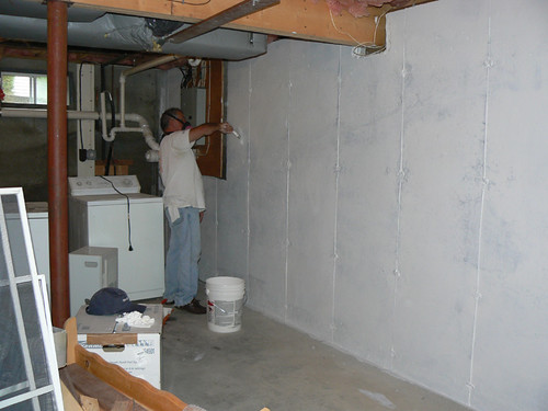 Dad Painting Basement