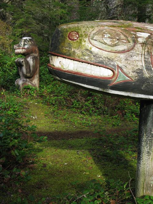 memorial totems, Kasaan Totem Park, Kasaan, Alaska