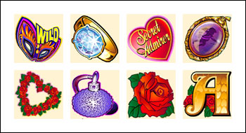 free Secret Admirer slot game symbols