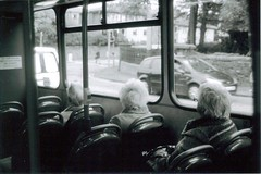 (hazel.jane) Tags: old ladies white bus car lady hair edinburgh afternoon jacket napier downstairs lothian ispywithmylittleeye