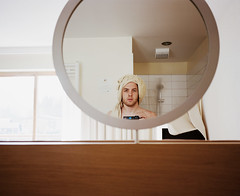 (Christian Pitschl) Tags: auto 2 portrait selfportrait color 120 mamiya film me analog self mediumformat nc kodak bad n 7 rangefinder krnten carinthia christian iso professional ii 400 l medium format analogue asa 6x7 ich portra selbstportrait f4 bleiberg 65mm 465 falkensteiner coupled mamiya7ii mittelformat i sucherkamera 65mm4 christianpitschl pitschl f65mm bleibergerhof hossamadonna 465mm