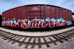 E T C (TRUE 2 DEATH) Tags: california street railroad autostitch streetart art train graffiti pano tag graf trains panoramic railcar etc axel spraypaint boxcar suite railways stitched railfan freight freighttrain autostitched rollingstock endtoend autopano  asic stitchedpanorama e2e autopanopro stitchted benching freighttraingraffiti