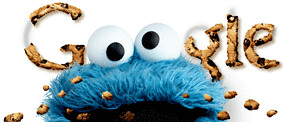 Cookie Monster on the Google Homepage