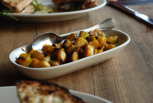 Gjelina's roasted Turkish squash (that have a crunch and a strong hit of rosemary)