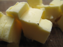 Frozen butter chunks