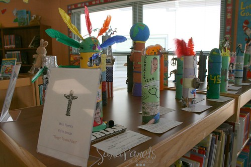 Totem Pole Art Display