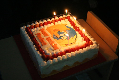 5 Years of Firefox Cake at the Firefox Developer Day in Tokyo, Japan