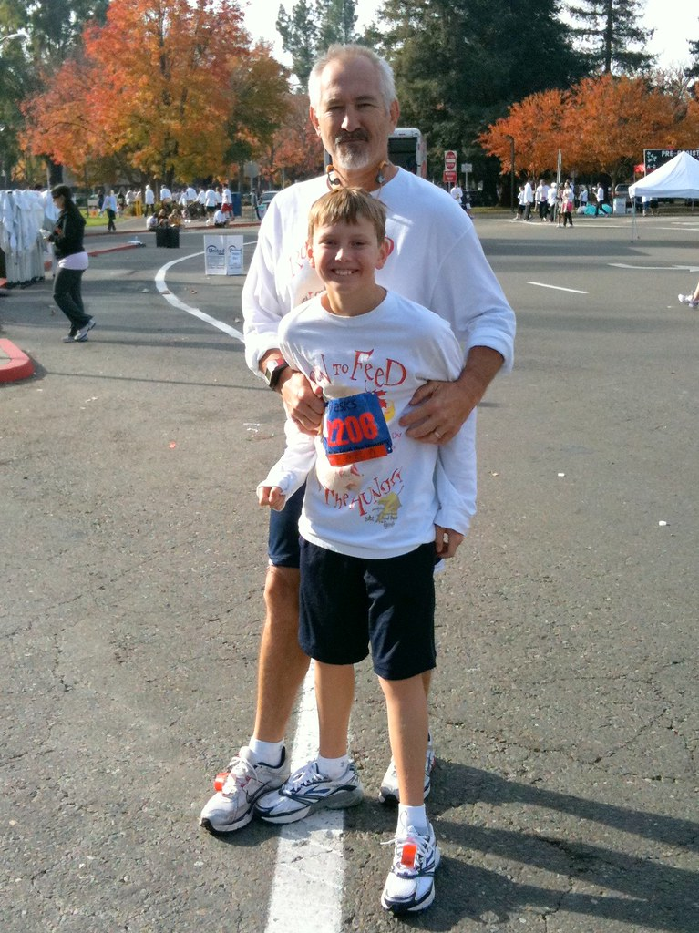 At the 2009 Run To Feed The Hungry