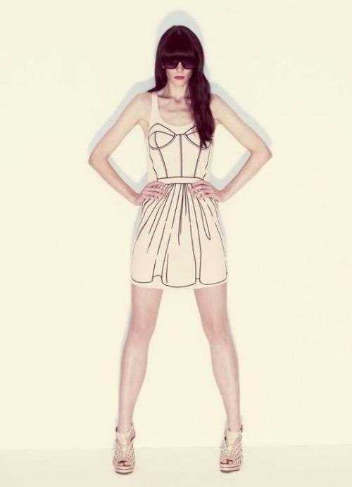 Trompe L'oeil dress by Rosalind Keep