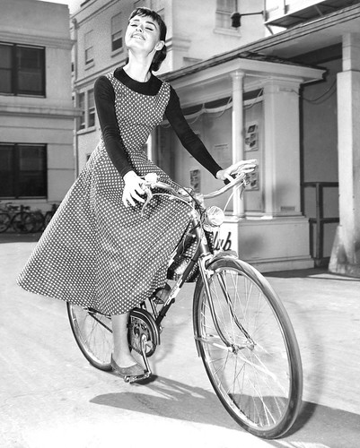 Audrey Hepburn, heels and wheels