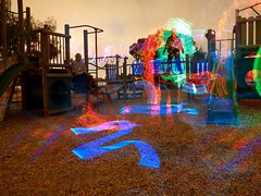 MCDP Playground Madness (Michelle ~ Blacky ~ Champaz's Captures....) Tags: lightpainting led cathode elwire lapp mcdp