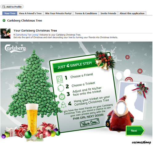 Carlsberg Nice One Application