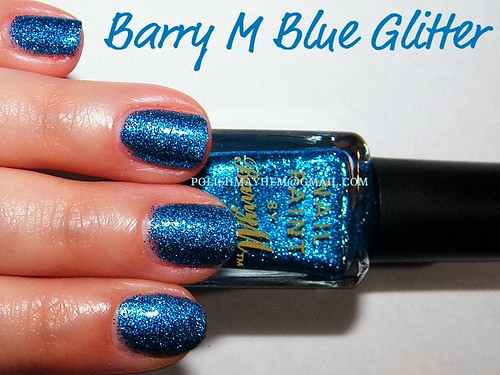 Barry M Blue Glitter