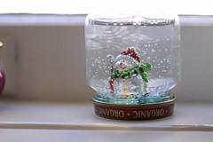Dec 20 (57) (theloushe) Tags: winter decorations holiday water festive snowflakes snowman holidays crafts celebration solstice babyfood jar figurine decor windowsill snowglobe