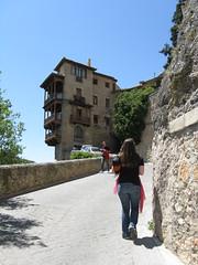 Walking to the hanging houses (prairieblazingstar) Tags: spain cuenca casascolgadas hanginghouses