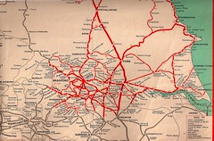 British Railways - North Eastern Region - Yorkshire area railway map - 1959 (mikeyashworth) Tags: york bradford yorkshire leeds wakefield hull halifax harrogate britishrail westyorkshire 1959 huddersfield boltonabbey otley pickering goathland ripon withernsea keighley eastyorkshire oxenhope embsay northyorkmoorsrailway selby britishrailways keighleyworthvalleyrailway northallerton railwaymap northeasternregion railwayroutes hornseatown mikeashworthcollection