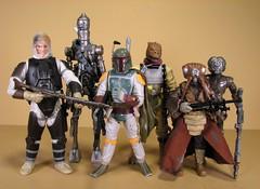 Bounty Hunters (FranMoff) Tags: toys starwars actionfigures bobafett hunter boba bounty hunters hasbro fett ig88 bossk 4lom dengar zuckuss