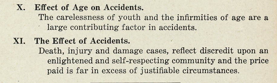 THINK - Grand Rapids automobile guide from 1925 - The Effect of Accidents