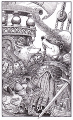 Wolf and Dolly - This oh so charming wolf is obviously much taken with Mistress Wideawake, but can we really trust his intentions?