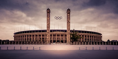 Olympic stadium Berlin (Stavros A.) Tags: architecture city monument historic stadium sports curves wheather clouds berlin germany europe lightroom nikond90 building columns tourism travel arena amphitheater outdoor olympic olympicstadium