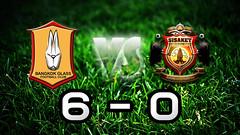 คลิปไฮไลท์ฟุตบอลไทยลีก บางกอกกล๊าส เอฟซี 6-0 ศรีสะเกษ เอฟซี