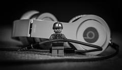 Where can I plug this in?? (_John Hikins) Tags: nikon nikkor d5500 lego 50mm 50mm18 bw black blackwhite blackandwhite white headphones beats lead figure