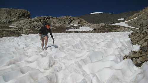 Lauren Crosses the Snowfield