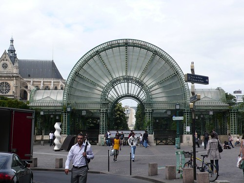 The former Les Halles, Paris' central marketplace up until 1971