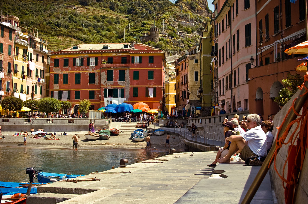 Vernazza's harbor and central square