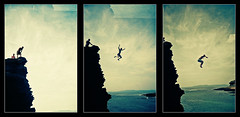 Donegal Jump Sequence (Cormac Phelan) Tags: sea cliff beach water 35mm jump lomo lca xpro lomography lka dive sequence provia phelan cormac