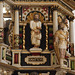 Bockhorn, Friesland, St. Cosmas und Damian Kirche, pulpit, cuppa, detail
