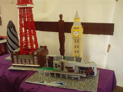 "LEGO ""My Way"" Models at the Brickish AGM (LostCarPark) Tags: uk lego bigben gherkin angelofthenorth blackpooltower myway brickish scotishparliament brickishassociation uklandmarks"