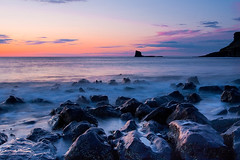 Saltwick Bay, Whitby, North Yorkshire (tuxahanoi) Tags: sunrise bay whitby saltwick blacknab