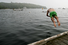 dockdive (sgoralnick) Tags: ocean dock maine neil diving boothbay boothbayharbor