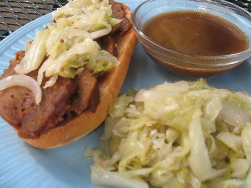 French Dip & Cabbage
