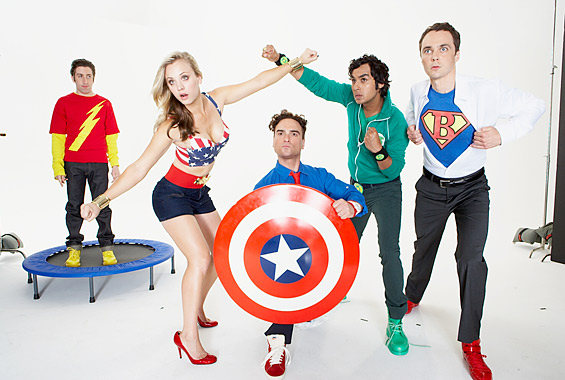The Big Bang Theory como superhéroes