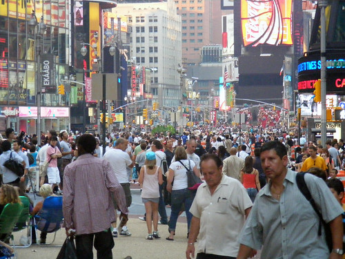 The sea of humanity in Times Square. acnatta/Flickr