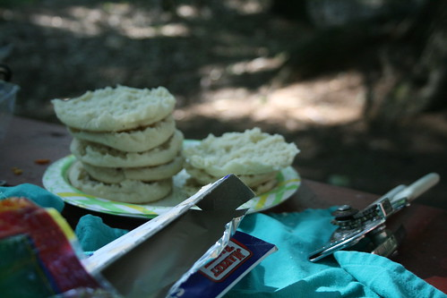 English Muffin Tops for Campfire Pizzas