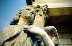 For the love of god, Steve Vai (Martintoy) Tags: peru angel 50mm nikon lima superia cementerio statues 400 estatuas fujifilm marble nikkor 18 f4 cementery marmol niches stevevai nikonf4 f4s fortheloveofgod presbiteromaestro presibteromaestro