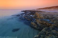 The Beauty Cliff (A.alFoudry) Tags: morning blue sea summer cliff reflection beach water rock sunrise canon eos dawn sand rocks gulf crystal mark tide low full filter shore lee frame 5d lowtide kuwait arabian fullframe ramadan ef kuwaiti arabiangulf q8 abdullah mark2 1635mm || f28l kuw q80 q8city xnuzha alfoudry canonef1635mmf28l abdullahalfoudry foudryphotocom canonef1635mmf28lusmii anjefa mark|| 5d|| canoneos5d|| mk|| canoneos5dmark|| canonef1635mmf28l||