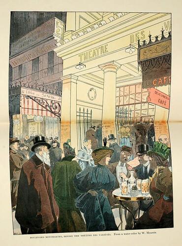002-Boulevard Montmartre ante el teatro de variedades
