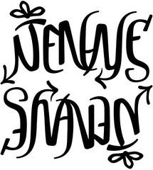 """""""Jenne"""" & """"Shawn"""" Ambigram"""